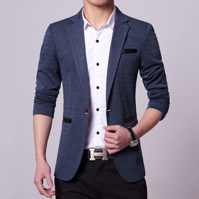 another chance 5f462 b9ca1 US $108.0 |2017 Nuovi Uomini Giacca Sportiva Elegante Abiti Da Uomo Slim  Fit Casual Suit Jacket Fashion Brand di Abbigliamento Coreano Mens Leather  ...