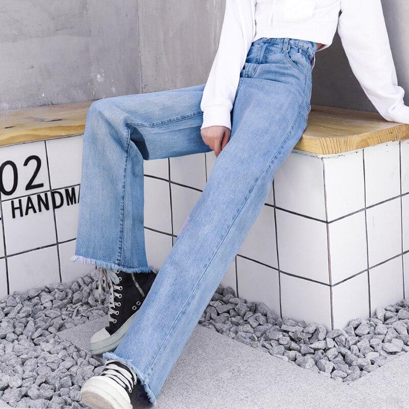 Baby À Femmes Denim Lâche Haute Pour Femme Bf Femelle Été Taille Cru Pantalon Jambes 2019 Pantalons Blue Larges Jeans q18wRxtT