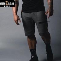 2017 Summer Brand Mens Jogger Sporting Shorts Slimming Men Black Bodybuilding Short Pants Male Fitness Gyms