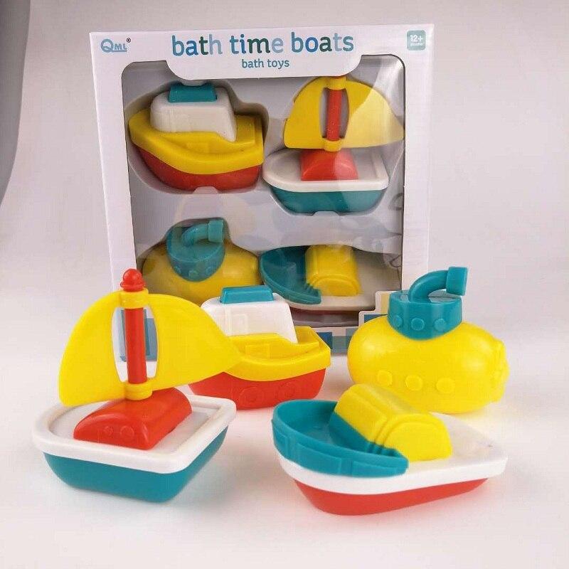 Top Brand 4Pcs Baby Bathing Toys Soft Plastic Hovership