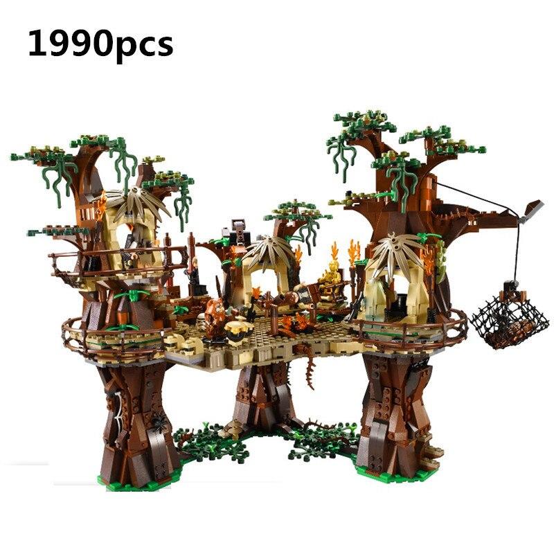 Hot Sale 1990pcs Lepin city 05047 Star Ewok Village Wars Building Blocks Juguete Para Construir Bricks Toys 10236 Gifts palace