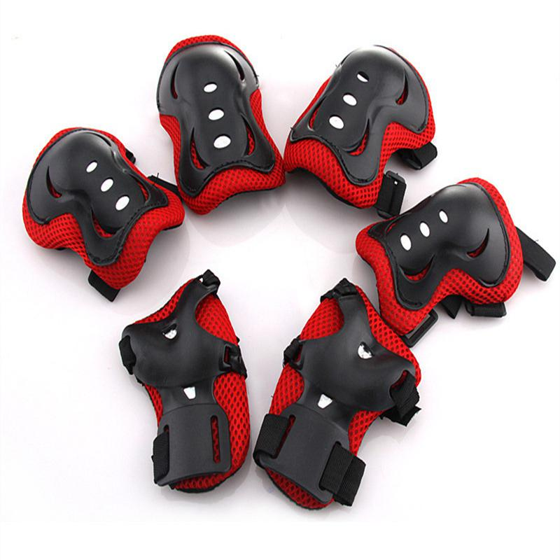 Mounchain 6 Pieces Kids Outdoor Sports Protective Gear Knee Pads Elbow Pads Wrist Guards Roller Skating Safety Protection