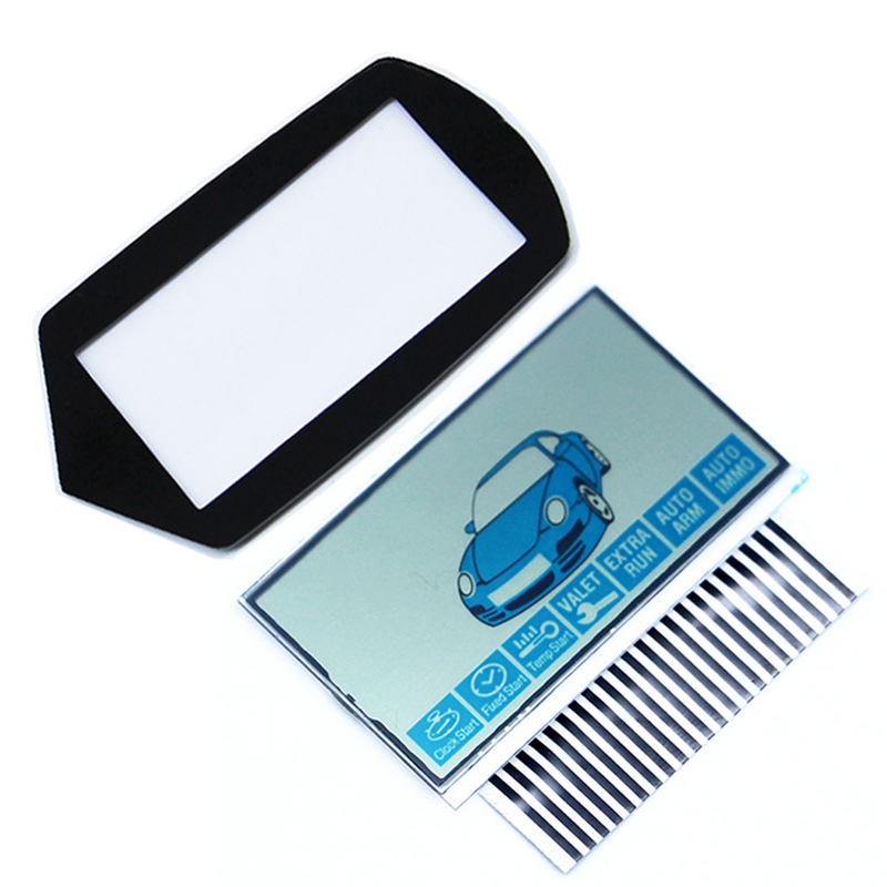 B9 LCD Display Flexible Cable+ LCD Keychain Glass Cover For Starline B9 Lcd Remote Control Key Chain + Zebra Stripes