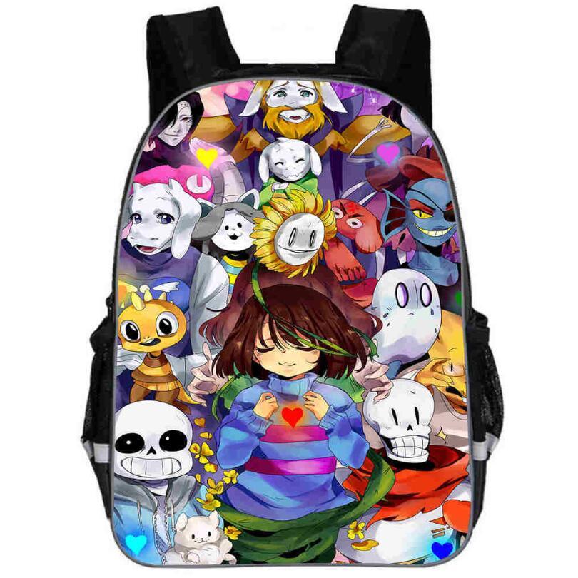 Anime Undertale Backpack For Girls Boys Book Bag Sans Women Mochila Men Travel Bag Undertale Children Teenage School Backpacks
