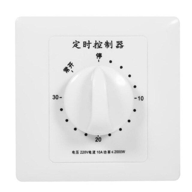 Temporizador mecánico Swtich AC 220V 30/60/120 minutos temporizador inteligente controlador cuenta atrás herramientas de Control de sincronización de alta potencia