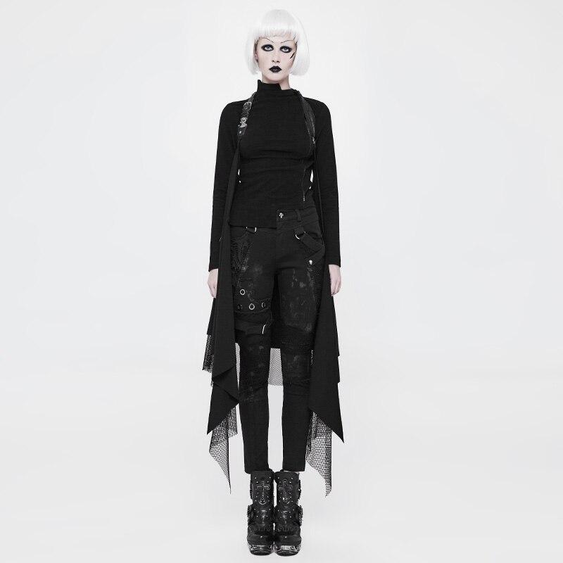 Punk Rave mode all-match tricoté avec tissu Net décontracté femmes Capes châle manteau gothique