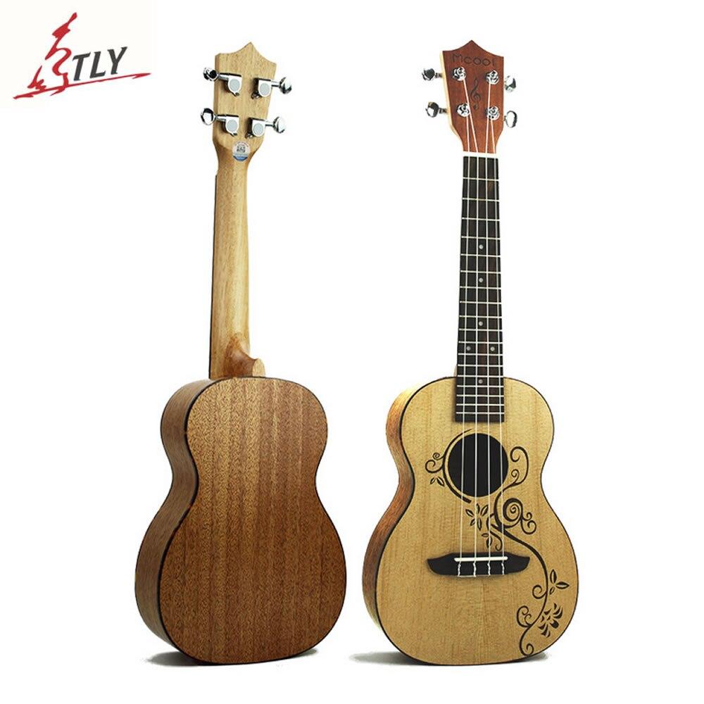 Mcool 23 Concert Ukelele 4 Strings Hawaii Mini Guitar Spruce Panel Mahogany Back Plate Rosewood Fingerboard Ukulele Uke