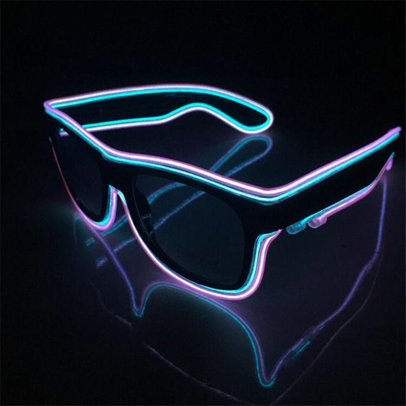 Fashion Dess Led EL luminous glasses Double color glasses for Performing special toys tools party wedding concert supplies