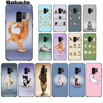 Babaite gatos haciendo yoga perros estilo de funda pintada suave funda del teléfono carcasa para GALAXY s5 s6 borde s7 borde s8 más s9 más s10 s10 plus