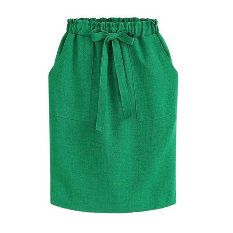 f213a01c29 Streetwear Midi falda de verano de las mujeres de cintura alta de ...