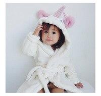 Spring Autumn Toddler Baby Girls Hooded Bathrobes Towels Children Girls Lovely Animal Cartoon Pattern Nightgown Kids Clothings