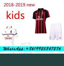 2018 Venta caliente 2019 de mejor calidad niños KIT AC milanés JERSEY de  fútbol + calcetines 037b74f109cba