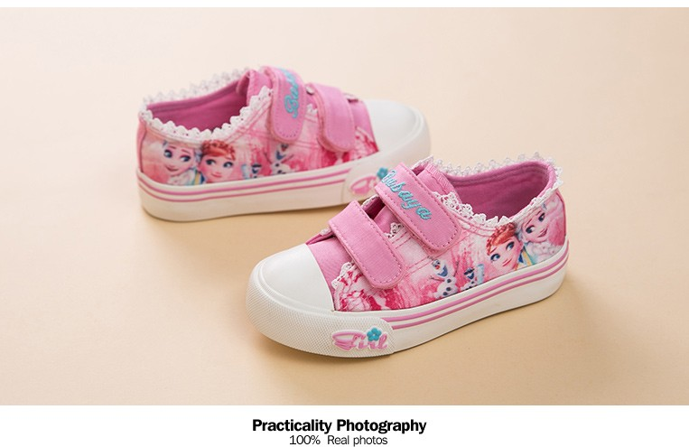 Princess Girls Shoes For Kids Fashion Elsa Anna Kids Shoes 2017 Ice Snow Queen Casual Denim Canvas Children Shoe Girl Sneakers 520 (7)