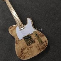 New custom guitar, log color, real wood, factory wholesale and retail. Can be modified to customize