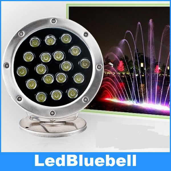 ФОТО 24V 18W LED Underwater light Swimming Pool Lamp, Landscape Light ,  Waterproof IP68