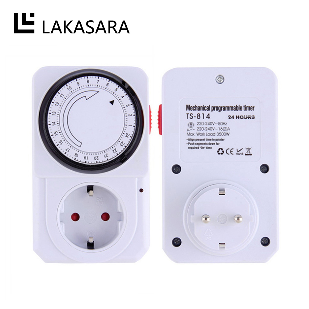 24 Outlet Us 7 91 30 Off 24 Hour Mechanical Electrical Plug Program Timer Power Switch Energy Saver Socket Outlet Timing Switch For Home Appliances Eu Au In