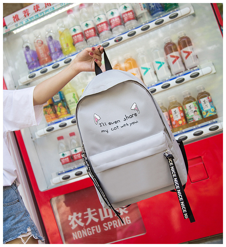S Mujer 2018 Bookbags For Teenage Girls Boys Casual Canvas Letter ... a11fed9361e6c