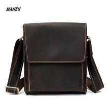 MAHEU Formal Style Cowskin Shoulder Bag Official Men