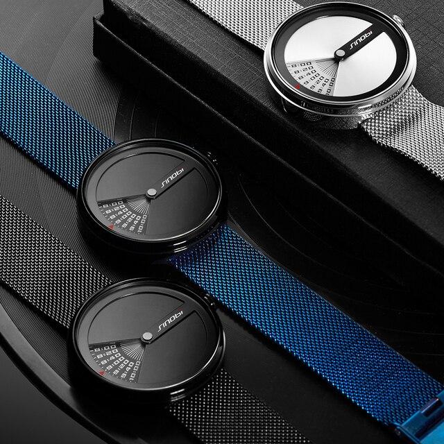 SINOBI Mens Fashion Watches Original Design Creative Wristwatch Stainless Steel