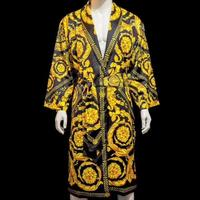 High quality luxury durable europe design new 2018 thicken yellow black plain bathrobe fast dry body bathing tower
