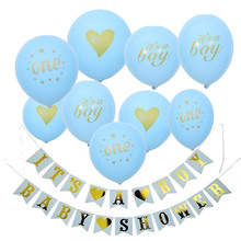 9pcs/lot Its A Boy/Girl Latex Balloon Inflatable Wedding Decorations Air Ball Kids Happy Birthday Party Supplies Balloons Set