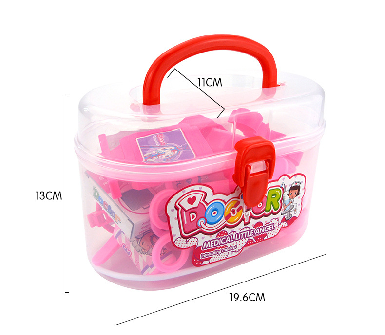 20 Pcs Children Pretend & Play Emulation Doctor Play-set Role Medical Kit for Kids - Pink