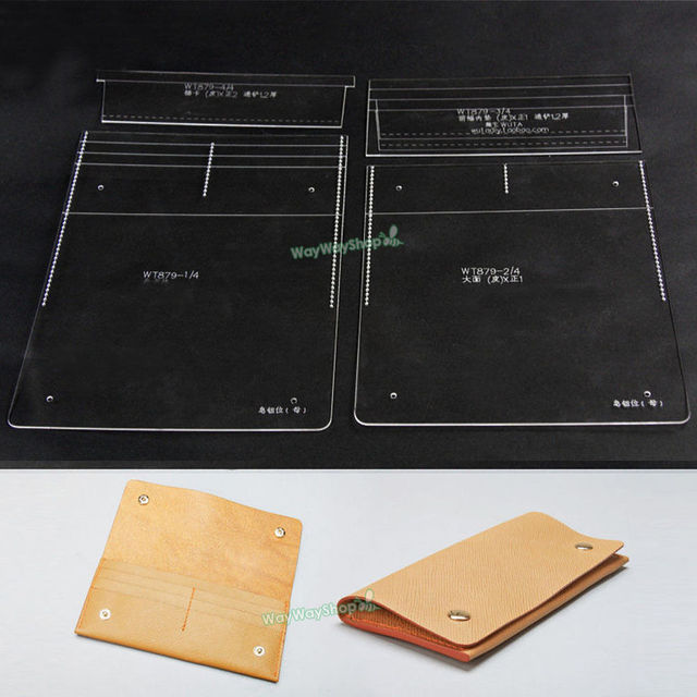 Acrylic Long Wallet Leather 879 template DIY Craft MODEL FOR making - wallet template