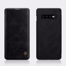 For Samsung Galaxy S10 S10+ Case NILLKIN Qin Series Flip Leather Case Cover For Samsung Galaxy S10 Plus with Wallet Card Pocket