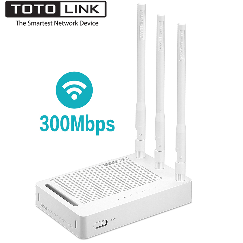 TOTOLINK N302R+ 300Mbps WiFi Wireless Router, Universal Wifi Repeater With 3*5dBi High Stable Antennas
