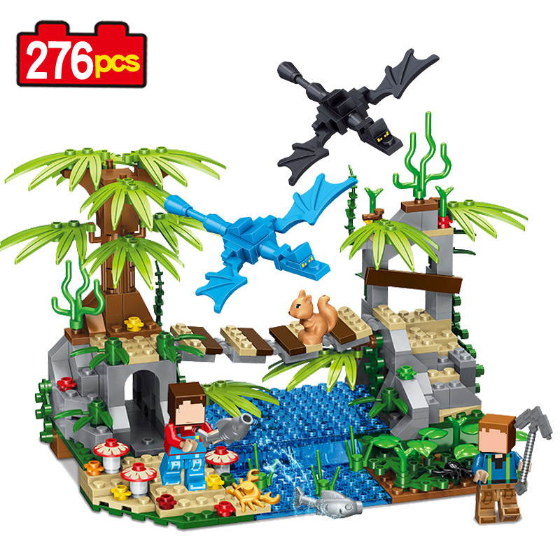 Qunlong My world New 2017 lepin Action Figure Building Blocks Christmas Toys for children