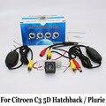 Câmera de Visão traseira Para Citroen C3 5D Hatchback/Plurie/com Ou Sem Fio do CCD de Visão Noturna Lente Grande Angular Câmera RCA conector