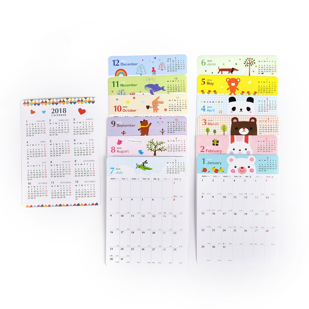 Peerless New Desk Standing Paper Calendar Multifunction Schedule Planner Notebook Kawaii Cartoon Animal Calendar Wide Selection; Office & School Supplies