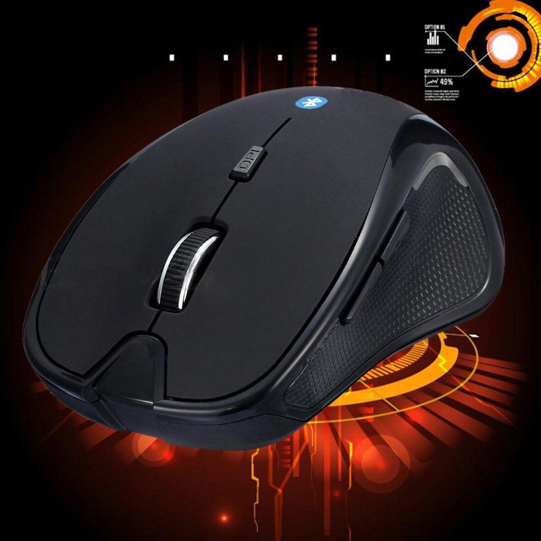 Etmakit Hot Sale Fashion Mini Wireless Bluetooth 3.0 6D 1600DPI Optical Gaming Mouse Mice Black Laptop PC Computer Peripherals