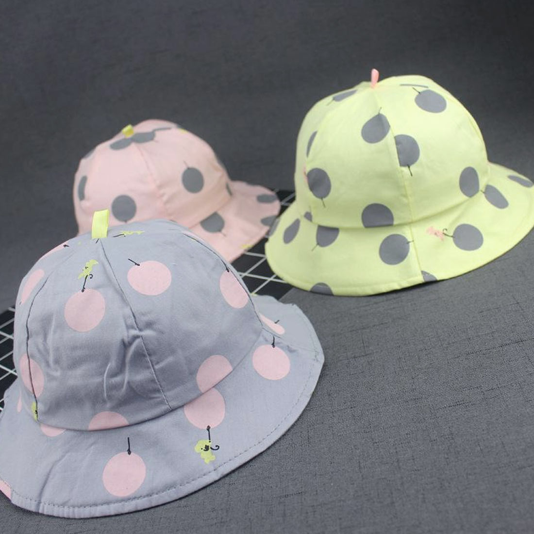 Cute Toddler Infant Kids Soft Cotton Sun Cap Summer Outdoor Breathable Hats Baby Beach Sunhat Suit for 1 4 Years Old kids in Men 39 s Bucket Hats from Apparel Accessories