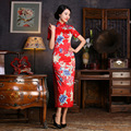 Spring New Arrival Retro Fashion Dress Women Dress Long Floral Silk Flowers Chinese Traditional Dress Cheongsam Qipao
