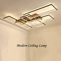 Neo brilho diy café acabamento branco retângulo moderno led luzes de teto para sala estar quarto estudo lâmpada do teto luminárias|Luzes de teto| |  -