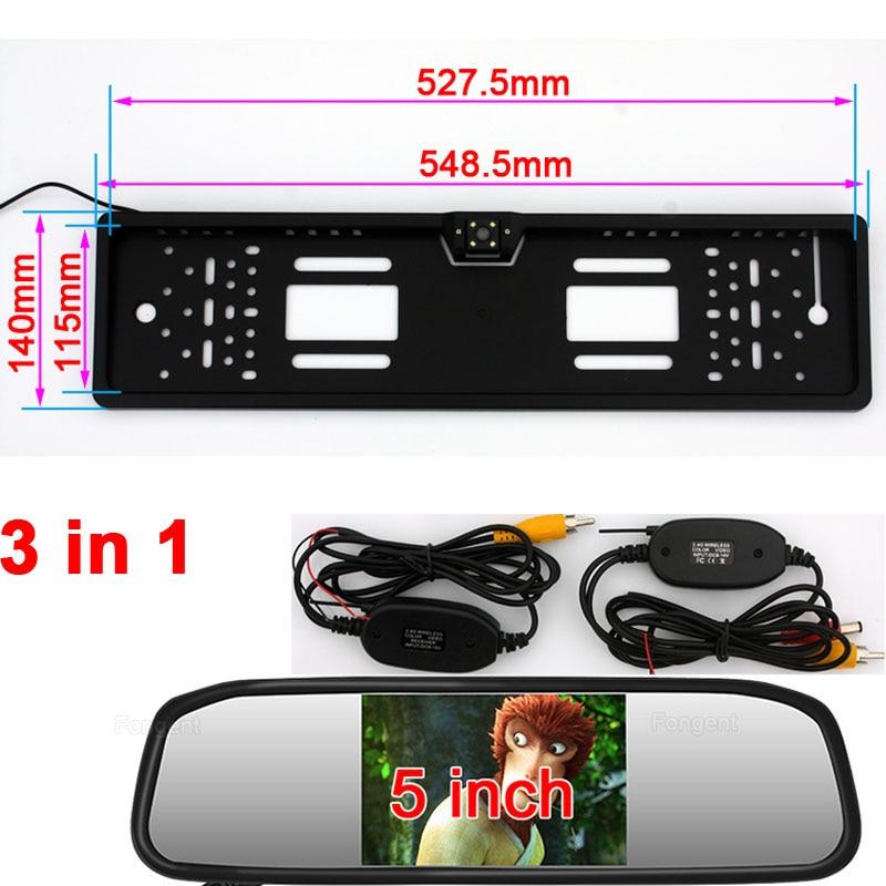 Hot Sale Vehicle reverse Wireless camera Monitor European License ...
