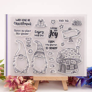 Clear Stamps Roller Paper-Craft Scrapbook-Card Silicon-Rubber Handmade Christmas Album