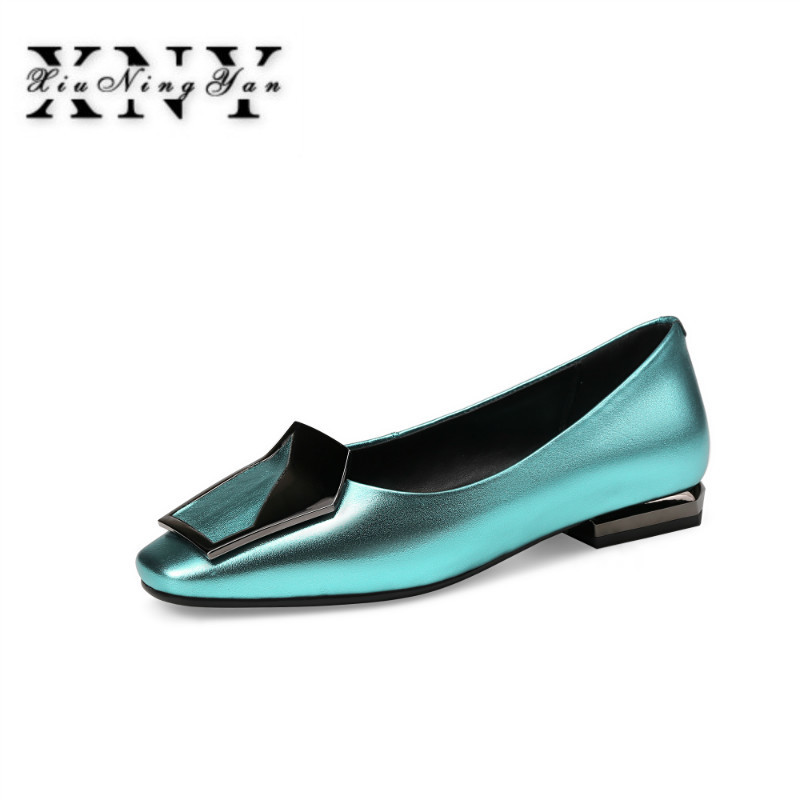 XIUNINGYAN New Fashion Women Genuine Leather Shoe Square Toe Thin High Heels Luxury Shoes Woman Wedding Party Pumps Big Size 43 big size 40 41 42 women pumps 11 cm thin heels fashion beautiful pointy toe spell color sexy shoes discount sale free shipping