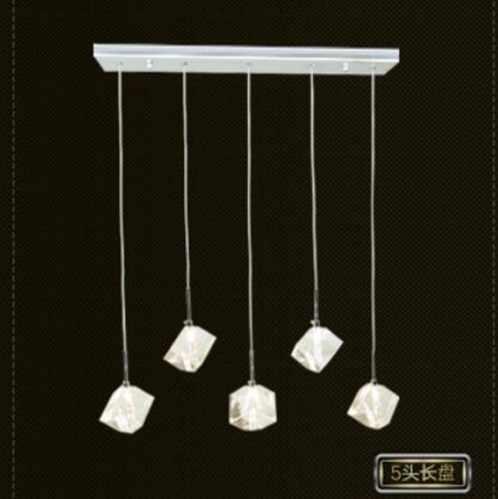 Прозрачный хрустальный светодиодный подвесной светильник для столовой, бара, современные модные лампы для дома, гостиной, простой креативный светильник