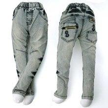 4-8Y Подросток мальчик джинсы, дети Джинсовые Капри, медными пуговицами Брюки вышитые Старинные Мыть Леггинсы Брюки верхняя одежда MH9557(China (Mainland))