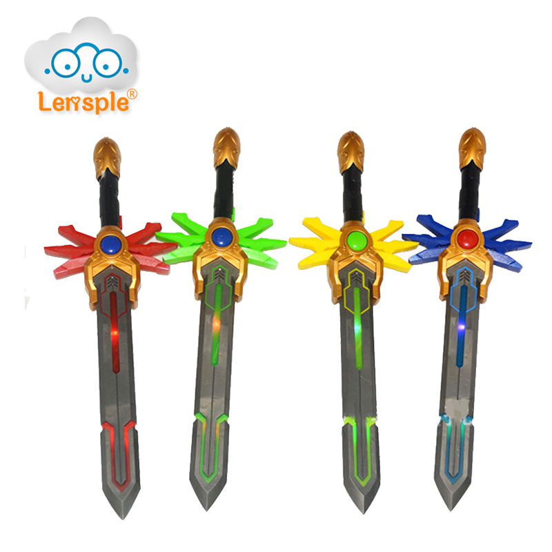 Lensple NEW Arrival Kids Toy Power Ranger Figure Accessories God Laser Sword Toy with Music LED Flashing