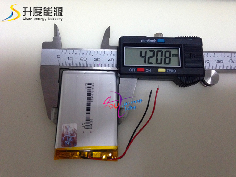 464260 3.7V 1400 mAH rechargeable lithium battery pack|3.7v mah|battery pack|batteries batteries - title=
