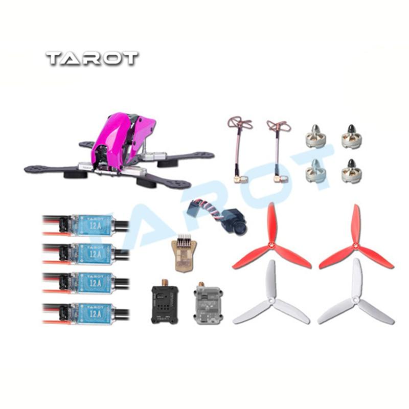 Tarot Robocat 280 FPV Carbon Fiber Quadcopter Kit TL280C Frame 2204 Motor 12A ESC 6inch 3blade Prop MINI CC3D PAL/NTSC GSX diy 3k carbon fiber mini quadcopter qav250 fpv drones frame kit original emax mt2204 blheli 12a esc lji 5030 propeller