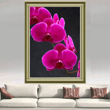 DIY Butterfly Orchid Flower Diamond Painting Floral Embroidery Mosaic Diamond Picture Home Decor Stitch Full Round Painting