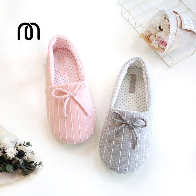 De mujeres otoño e invierno lindo arco a caliente algodón zapatillas indoor Inicio anti - zapatillas antideslizantes , gray , 37