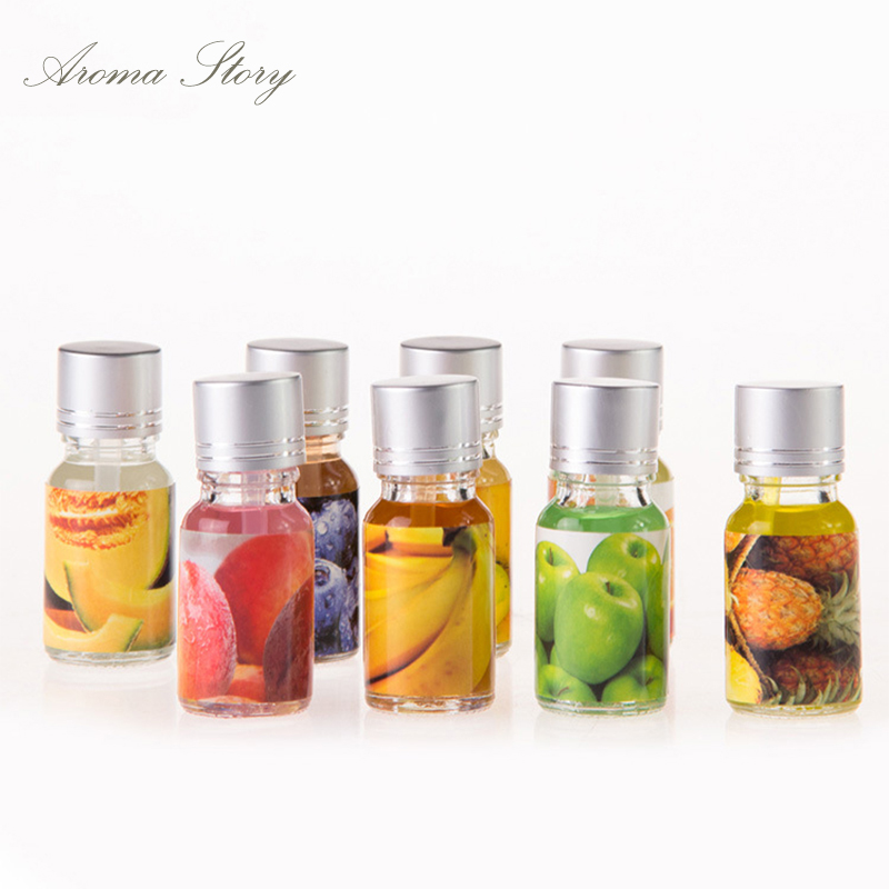 10ml x 8pcs fruit scent aromatherapy essential oil used for Best scented oils for home