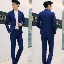 M-3XL 8 Colores Hombres Boda Del Novio Traje Formal Un Botón Slim Fit Chaqueta de la Capa Esmoquin Pantalones Nueva