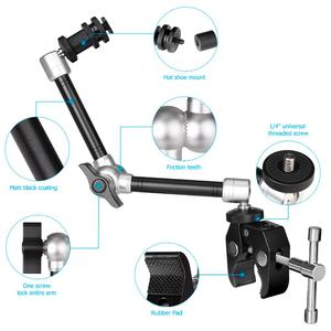 Image 5 - 11 Articulating Friction Magic Arm w/Super Clamp Holder Mount Rig for DSLR Camera Canon Gopro Hero Sony Action Cam Smartphone