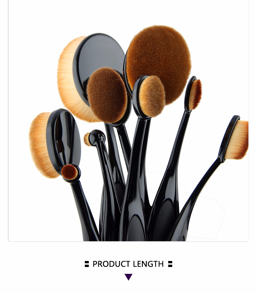 Pro Face Oval Makeup Brush Foundation BB Cream Flawless Base Powder Puff Blusher Cosmetic Toothbrush Shaped Cleaning Beauty Tool new arrive makeup brush face powder blusher toothbrush foundation oval brushes cosmetic tool